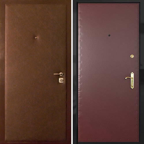 входные двери с кожей