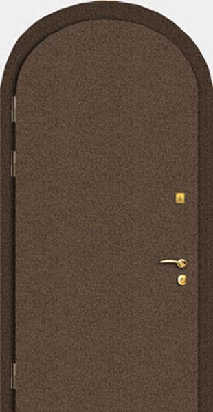металлическая дверь для дачи арочная
