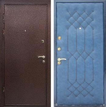 входная металлическая дверь с порошковым напылением и винилискожей