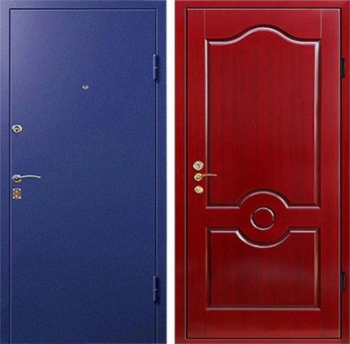 дверь металлическая входная с порошковым напылением эконом