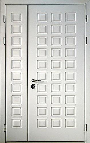 двустворчатые металлические двери тамбурная