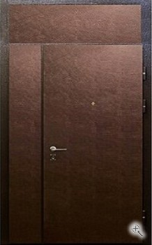 дверь стальная двухстворчатая напыление