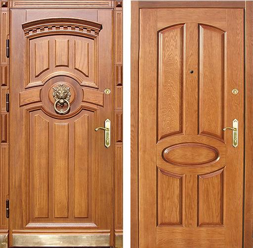 элитные железные двери с массивом