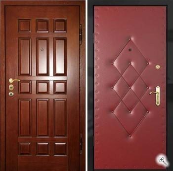 двери железные тамбурные эконом