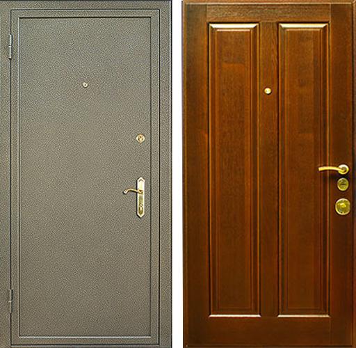 железная дверь порошковая с шумоизоляцией