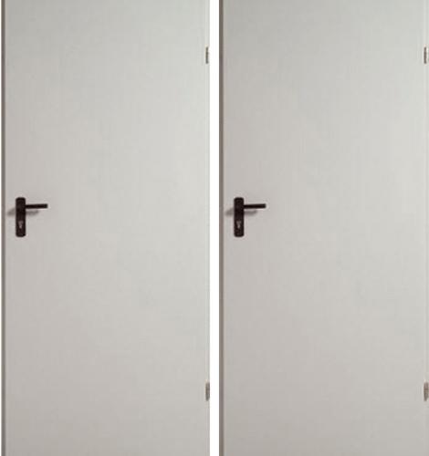простые металлические двери технические