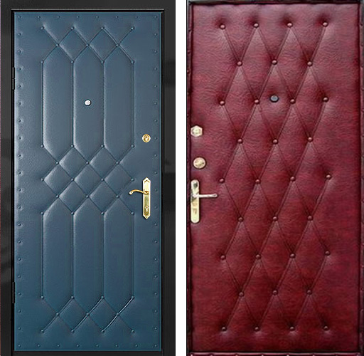 выбрать винилискожа для металлической двери