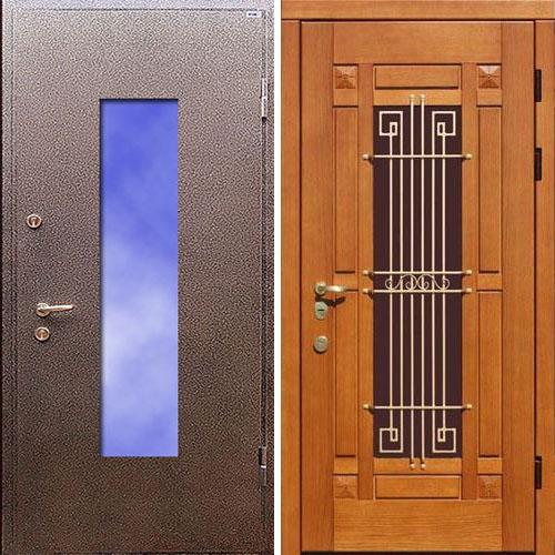 установить металлическую дверь со стеклопакетом цена