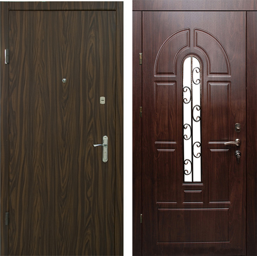 металлическая дверь мдф ламинат стекло