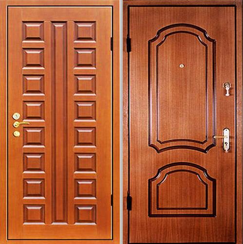 металлические двери с отделкой мдф для коттеджа