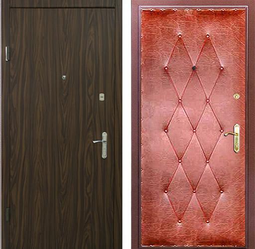 установка ламинированной облицовки металлические двери